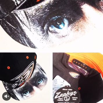 Anaheim Ducks Authentic Zephyr Snapback or Fitted Cap with Custom Bill