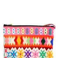 Peruvian Neon Embroidered Clutch