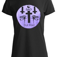 Pastel Goth Grunge Punk  Nu Goth Unique Black Purple Tee Shirt Sad But Rad