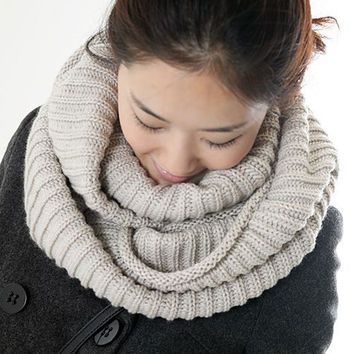 New fashion style Unisex Winter knitted Scarves Wool Collar Neck