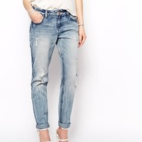 Fashion Union Boyfriend Jeans With Distressing