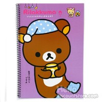 Rilakkuma College Ruled Spiral Notebook : Purple $2.50