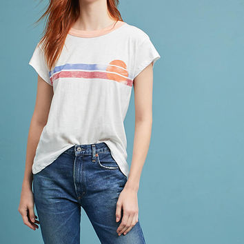 Sunset Striped Tee