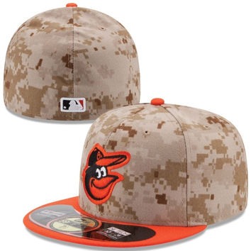 Baltimore Orioles New Era Memorial Day 59FIFTY Fitted Hat – Camo