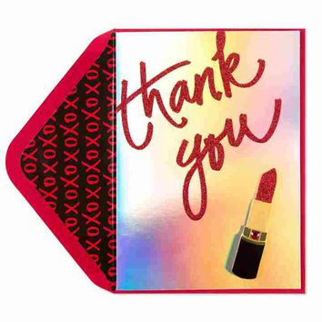 Taylor Swift Lipstick Thank You Card