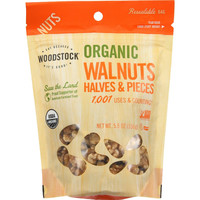 Woodstock Nuts - Organic - Walnuts - Halves And Pieces - 5.5 Oz - Case Of 8