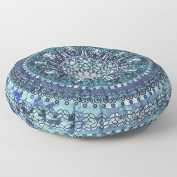 Monterey Mandala Floor Pillow by ninamay