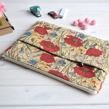 Poppies MacBook 12 case, MacBook Air Pro 13 case, Mac Pro Retina 13 case, MacBook Air 11 case, MacBook 15 case, iPad Pro sleeve, Air 2 case