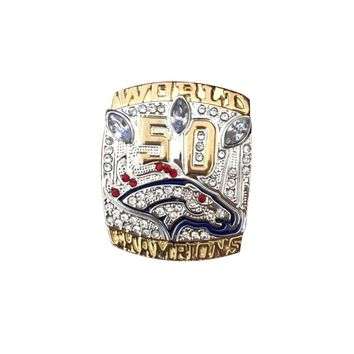 Sport Jewelry 2015 denver broncos Championship Ring Custom football ring drop shipping Size 11
