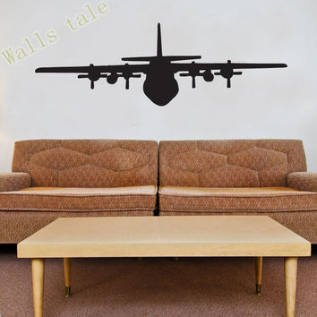 High Quality Airplane Vinyl Wall Window Decal Sticker