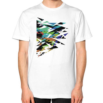 Abstract art Unisex T-Shirt (on man)