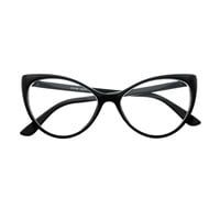 Clear Lens Large Womens Retro Cat Eye Glasses Frames C76