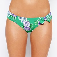 Seafolly Rococo Rose Ruched Side Bikini Bottoms
