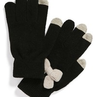 Lulu Bow Tech Gloves (Juniors) | Nordstrom
