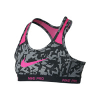 Nike Pro Hypercool Allover Print Girls' Sports Bra Size Small (Black)