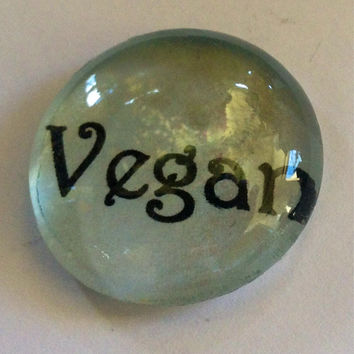 Vegan, glass magnet, paper weights, gifts