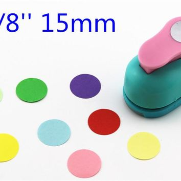 free shipping paper circle cutter 15mm 5/8'' shapes craft punch diy puncher paper cutter scrapbooking punches scrapbook S8563