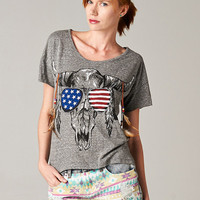 Bull Skull Short sleeves Top