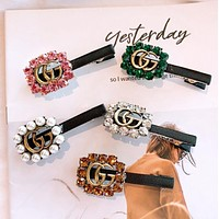 GUCCI New fashion more diamond hair clip women accessories