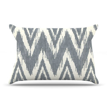 "Heidi Jennings ""Tribal Chevron Gray"" Pillow Case"