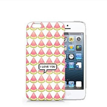 Watermelon Iphone 6 Plus case, Iphone 6 Plus Case Plastic Hard White Cover Skin Case Unique Design-Quindyshop