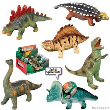 Small Soft Dinosaurs - Toysmith - Pack of 24 ea