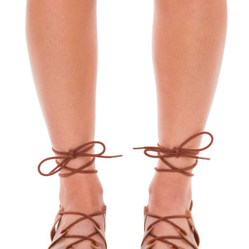 Joan Lace-Up Gladiator Sandals - Tan