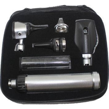 Gurin Professional 2.5V Otoscope & Ophthalmoscope Instrument Set with Leather Case