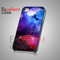 Peterpan Galaxy QUote - iPhone 4/4s/5 Case - Samsung Galaxy S2/S3/S4 Case - Black or White