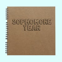 Sophomore Year - Book, Large Journal, Personalized Book, Personalized Journal, , Sketchbook, Scrapbook, Smashbook