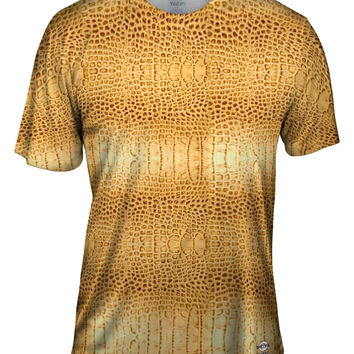 Golden Snake Skin Pattern
