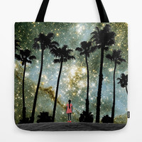 Paradise Galaxy Dream Tote Bag by RichCaspian