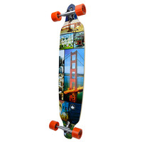 Punked Drop Through San Francisco Longboard Complete