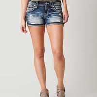 ROCK REVIVAL LAM STRETCH SHORTS