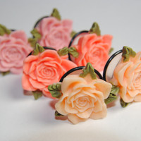 Rose 7/8 inch (22mm) Acrylic Plugs, Ear Gauges, Women, Stretched Ears, Pastel, Beautiful, Floral, Flower, Plugs for Girls, CHOOSE COLOR
