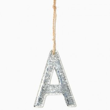 Initial A Metallic Ornament | Charming Charlie