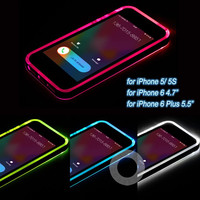 "New Cheap TPU+PC LED Flash Light Up Case Remind Incoming Call Cover for Apple iPhone 5 5S 6 6S 4.7"" 6 6S Plus 5.5"""