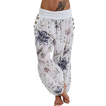 Women Casual Print Pants