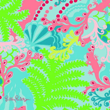 Lilly Pulitzer inspired 8.5 x 11 Vinyl Sheets