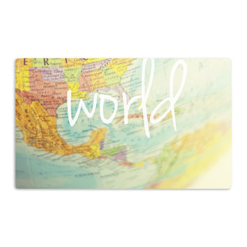 "Libertad Leal ""What a Wonderful World"" Map Aluminum Magnet"