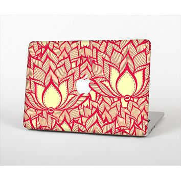 The Sketched Red and Yellow Flowers Skin Set for the Apple MacBook Air 11""