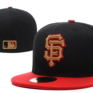 qiyif San Francisco Giants New Era MLB Authentic Collection 59FIFTY Cap Black-Red
