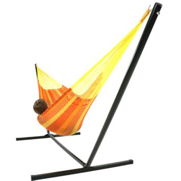 Sunnydaze Decor Tequila Color Mayan Family Hammock with Stand