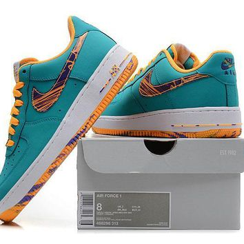 PEAPON Nike Air Force 1 Af Blue For Women Men Running Sport Casual Shoes Sneakers