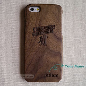 Wood iPhone 5 case, 5sos iPhone 6 case, Custom iPhone 5S case, Wood iPhone 5C, 5sos iPhone 4 case, Wood iPhone case, 5 second of summer - B8