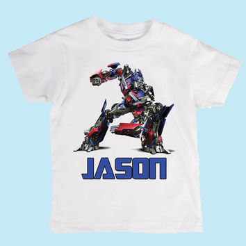 Personalized Optimus Prime from Transformers Boys Shirt/Onesuit Birthday shirt