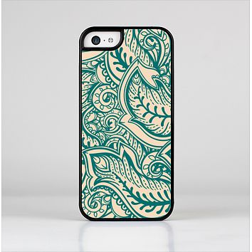 The Delicate Green & Tan Floral Lace Skin-Sert Case for the Apple iPhone 5c