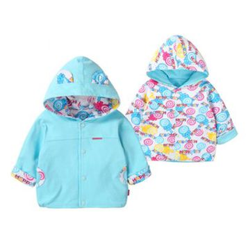 Baby Jacket For Girls Boys Double Sided Coat Wearing Poncho Moleton Infantil Ponchos Jacket Capes Cardigan Sweater 60D032