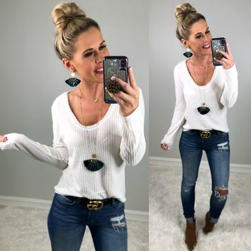 Summer Sweater: White