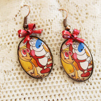 REN & STIMPY - Happy happy, Joy joy - Ren and Stimpy Earrings - 90's Nostalgia